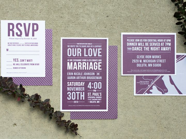 Tmx 1438123872055 Dlvtheinvitationpost57 Forest Lake wedding invitation