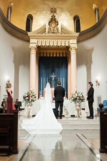 Ceremony at Holy Cross Chapel