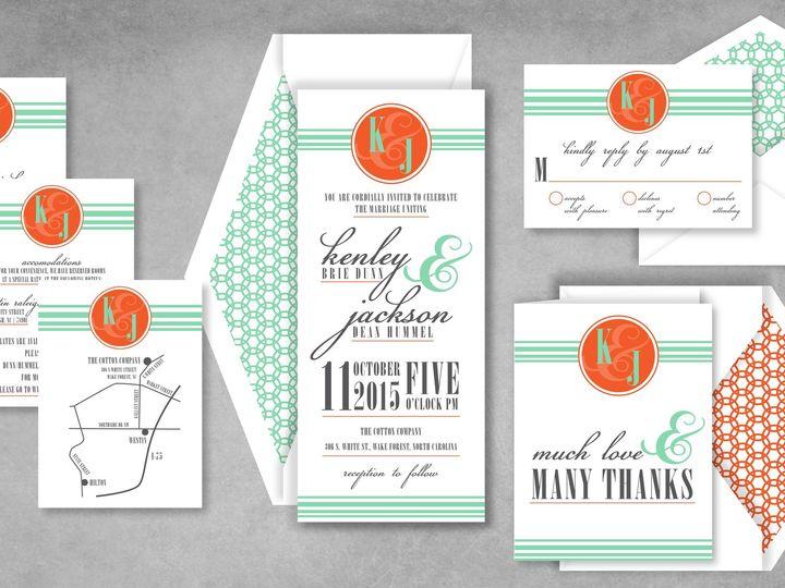Tmx 1421864594716 Signaturemonogrampic Holly Springs wedding invitation