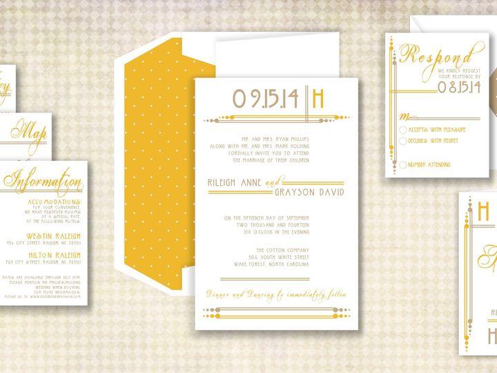 Tmx 1424790340834 Avantgardepic Holly Springs wedding invitation