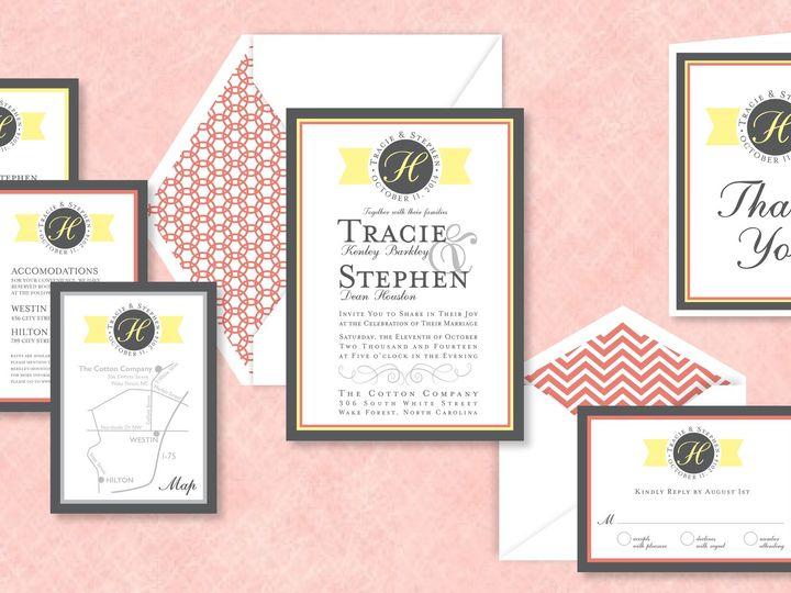 Tmx 1424790382820 Bannermonogrampic Holly Springs wedding invitation