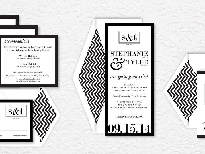 Tmx 1424790482294 Boxedmonogrampic Holly Springs wedding invitation