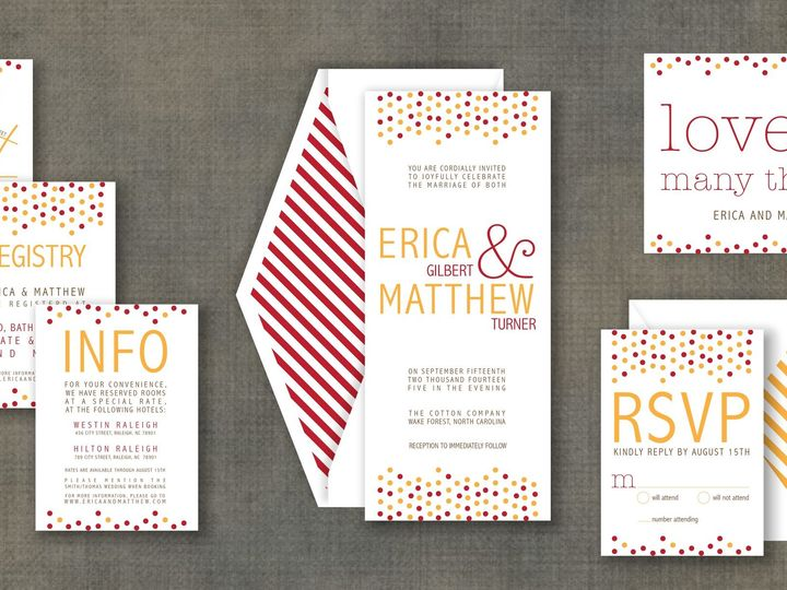 Tmx 1424790533280 Confettipic Holly Springs wedding invitation