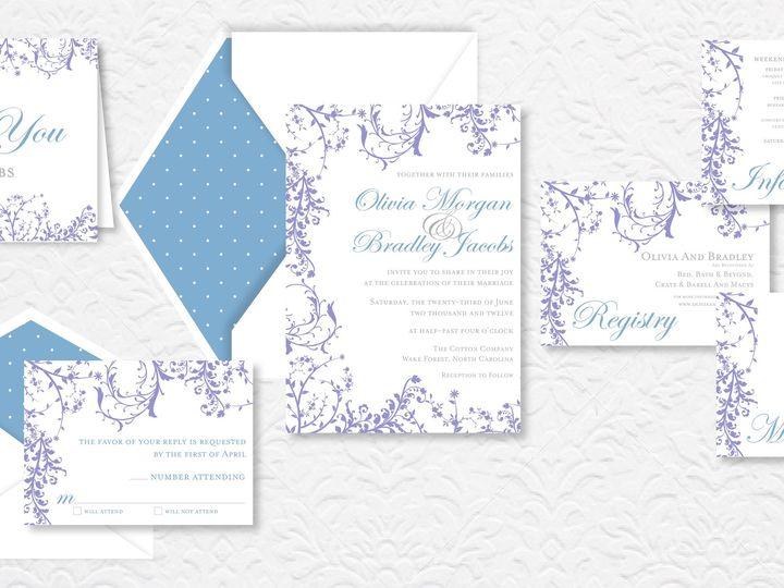 Tmx 1424790631031 Floralpic Holly Springs wedding invitation