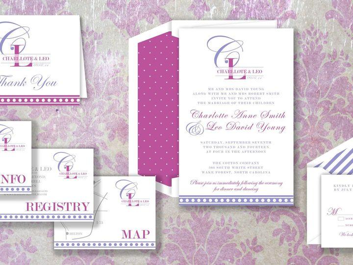 Tmx 1424790774706 Frenchstripepic Holly Springs wedding invitation