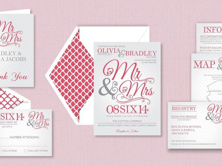 Tmx 1424790889817 Mrmrspic Holly Springs wedding invitation