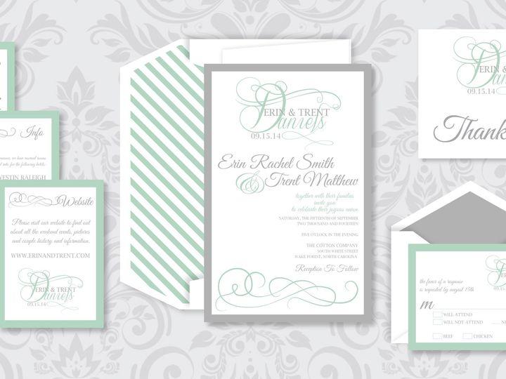 Tmx 1424790939619 Ornatemonogrampic Holly Springs wedding invitation