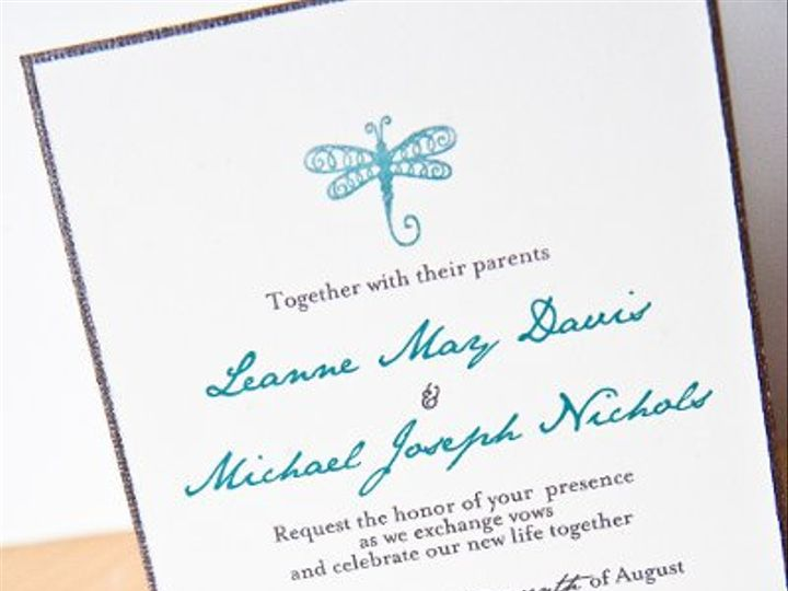 Tmx 1270785060428 Weddingdragonfly Seattle wedding invitation