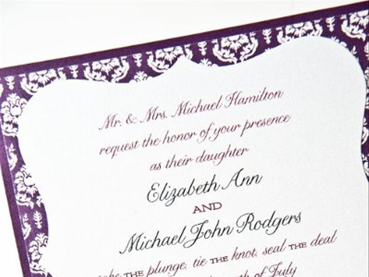 Tmx 1270785199397 Weddingpurple1 Seattle wedding invitation