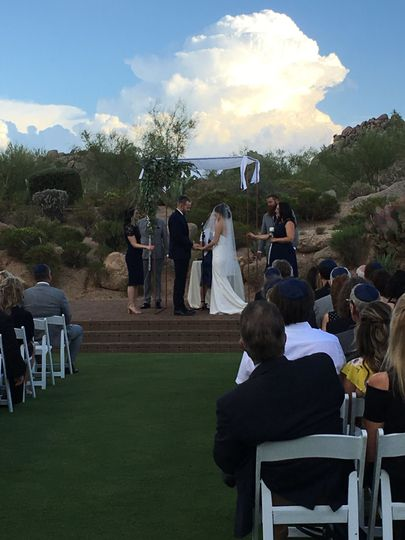 We specialize in Jewish weddings as well!  So beautiful at Troon North!
