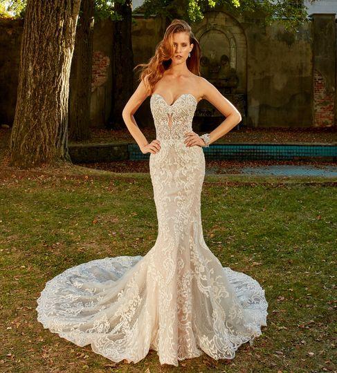 Bride outdoors
