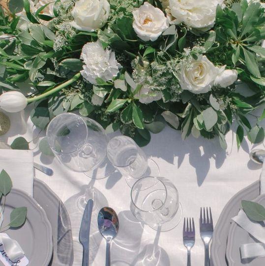 Elegant white setup