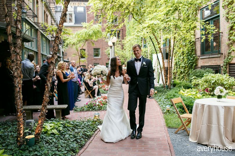 Ceremony in courtyard  Photo Credit: Avery House http://galleries.averyhouse.net