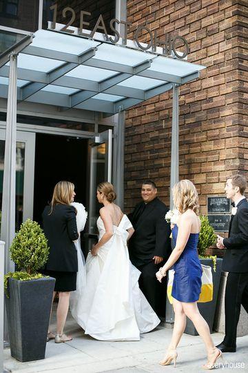Bride entering Ivy Room