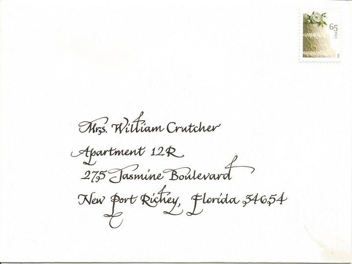 Tmx 1416324383187 Wren Envelope Cape Cod, MA wedding invitation