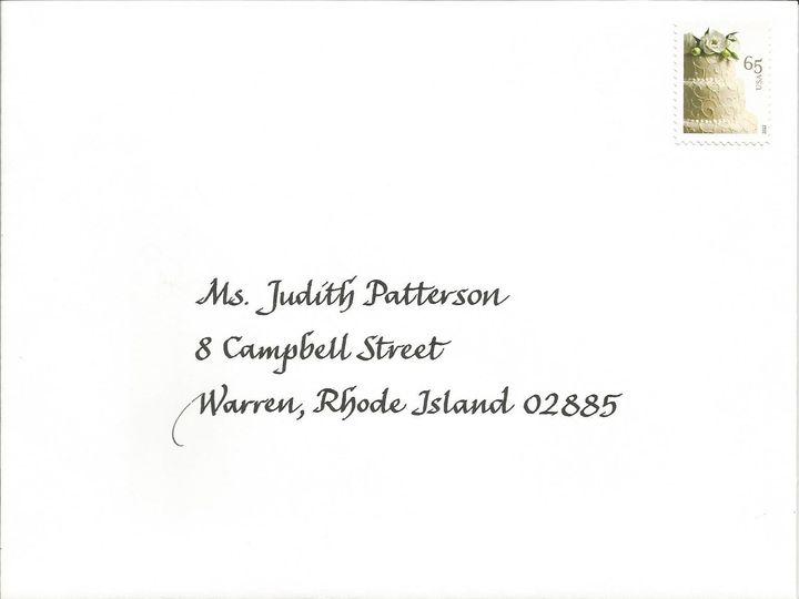 Tmx 1416324394524 Humanistic Envelope Cape Cod, MA wedding invitation