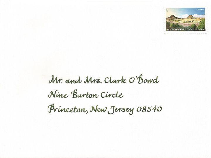 Tmx 1416324407152 Ifc Envelope Cape Cod, MA wedding invitation