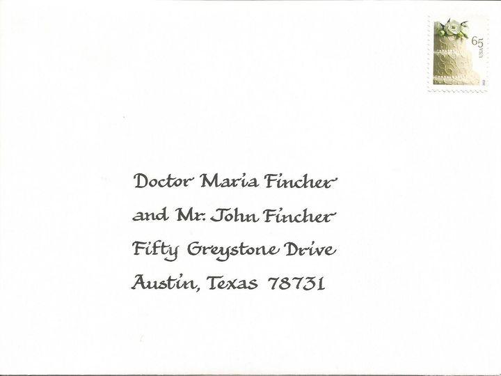 Tmx 1416324417157 Foundational Envelope Cape Cod, MA wedding invitation