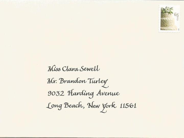 Tmx 1416324427851 Condensed Italic Envelope Cape Cod, MA wedding invitation