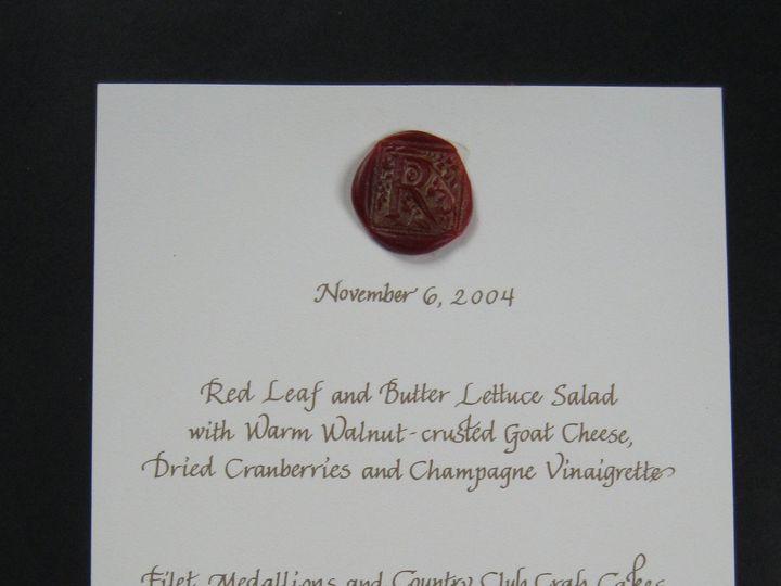 Tmx 1416327074533 Menu With Seal Cape Cod, MA wedding invitation