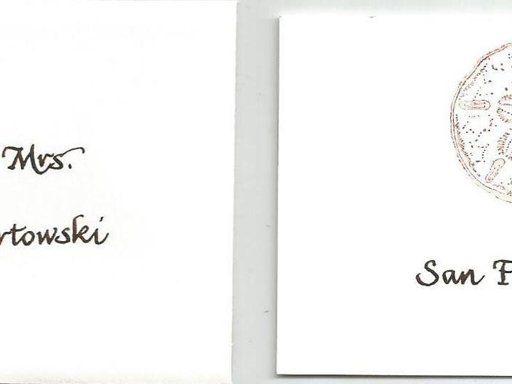 Tmx 1425996656295 Janscript Table Card Cape Cod, MA wedding invitation