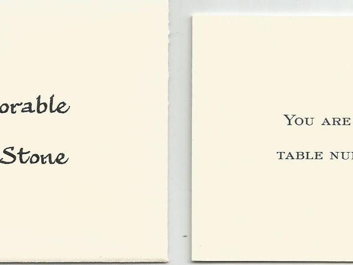 Tmx 1425996661780 Foundational Table Card Cape Cod, MA wedding invitation