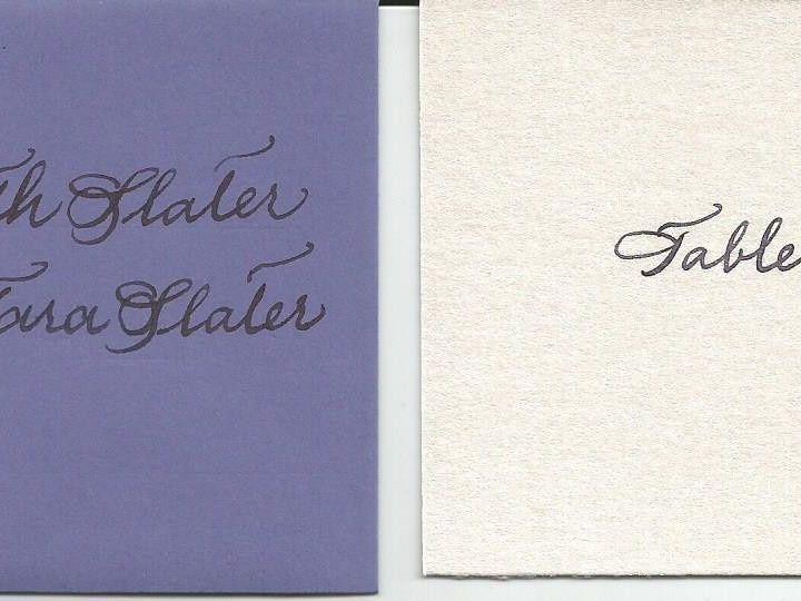Tmx 1425996667399 Spencerian Table Card Cape Cod, MA wedding invitation