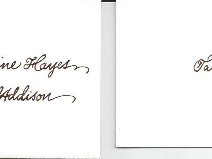 Tmx 1425996676392 Copperplate Table Card Cape Cod, MA wedding invitation