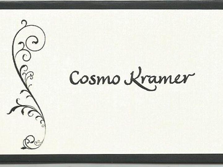 Tmx 1426039491175 Finehand Place Card Cape Cod, MA wedding invitation