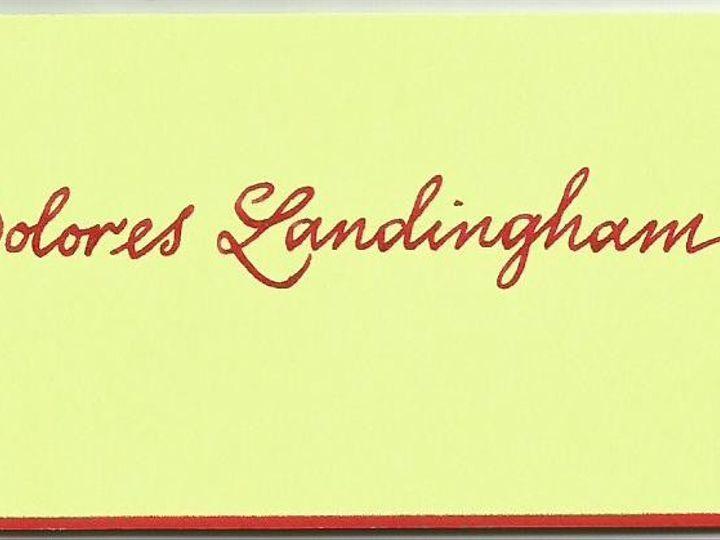 Tmx 1426039493156 Copperplate Place Card Cape Cod, MA wedding invitation