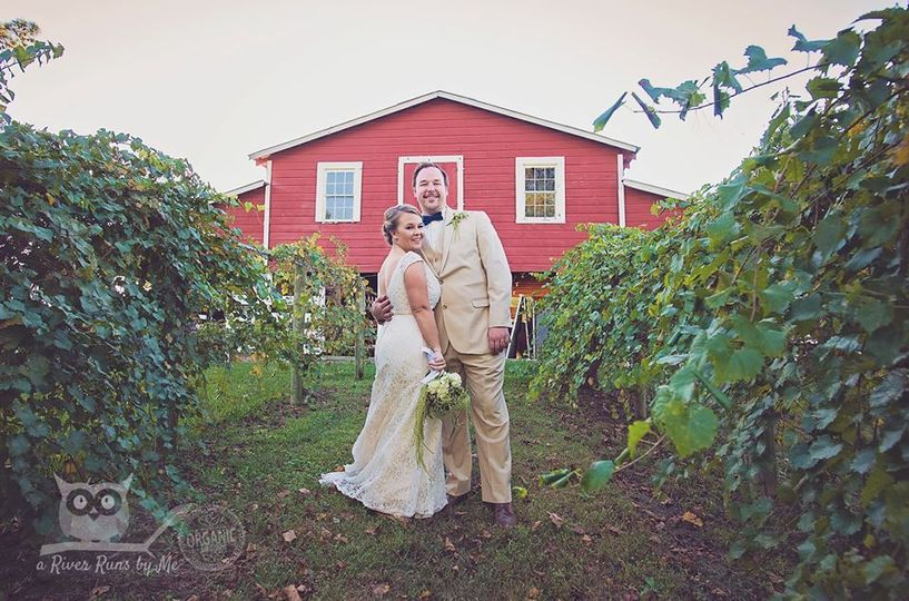 Newlyweds in the farm