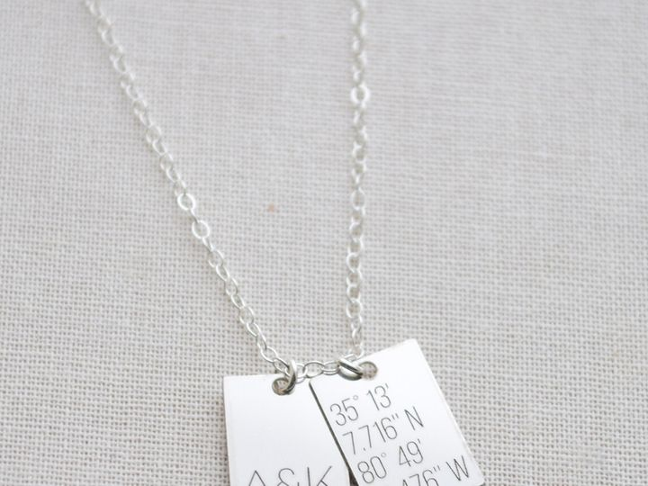 Tmx 1471976768430 1392tinytagnecklace Charlotte wedding jewelry