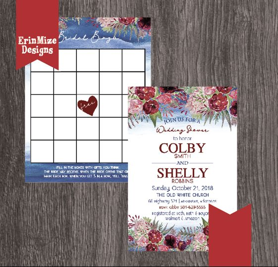 Bridal Shower and bingo cards