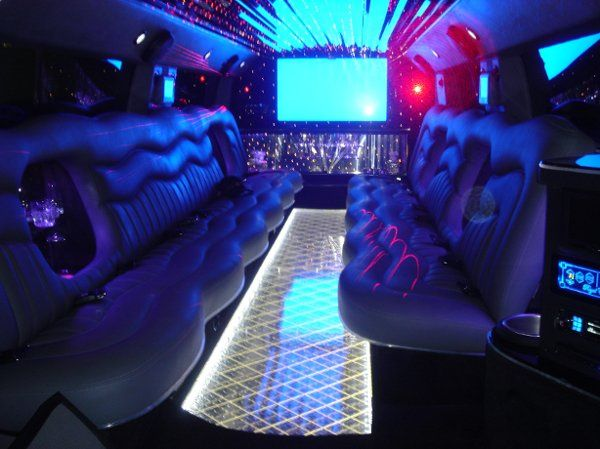 Interior of our H2 Hummer