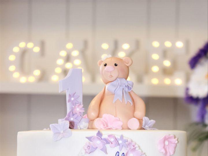 Tmx 1467063635177 1stbdayteddystella 1f Rohnert Park wedding cake