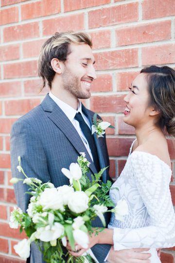 Smitten groom
