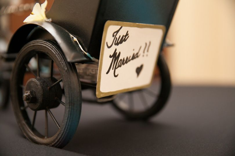 just married buggy