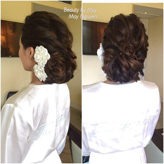 Final wedding hair style