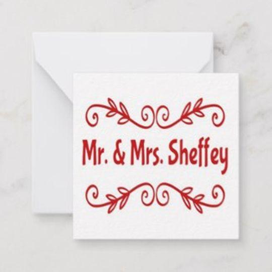 Mr. and Mrs. Sheffey Notecards