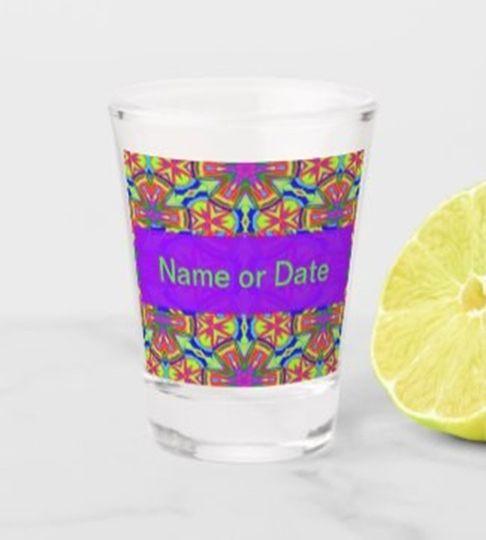 Personalize shot glass