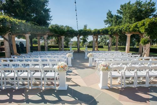 Circular patio ceremony site