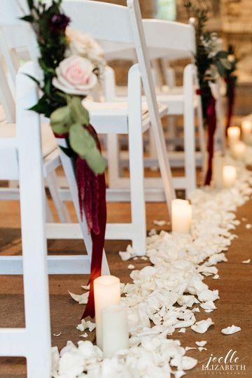 Wedding ceremony venue decoration