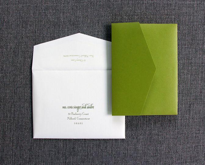 In green