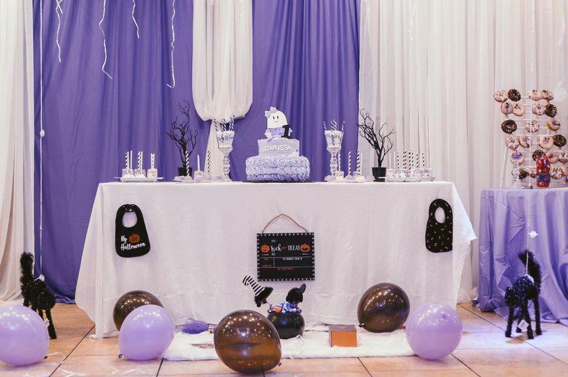 A purple party