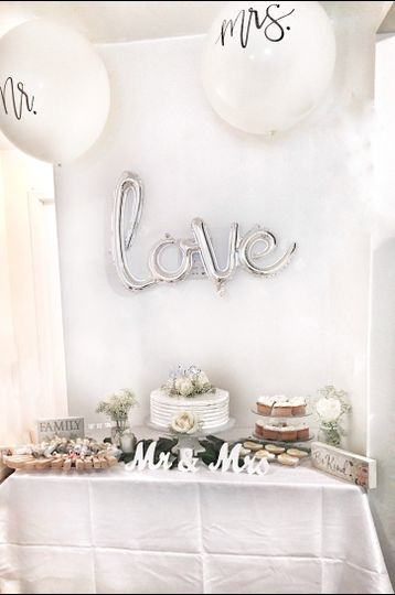 Bridal shower cake table