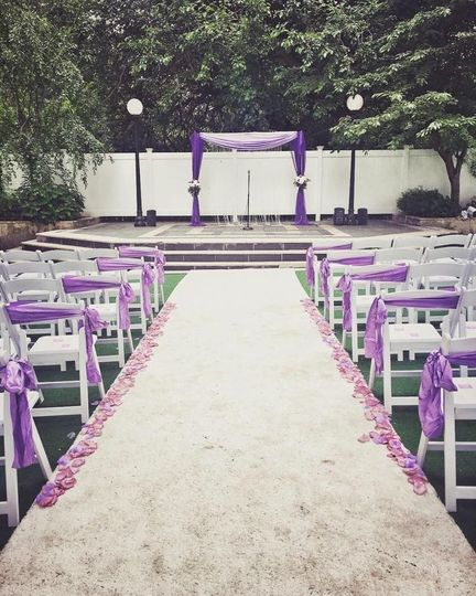 A view of the ceremony setup