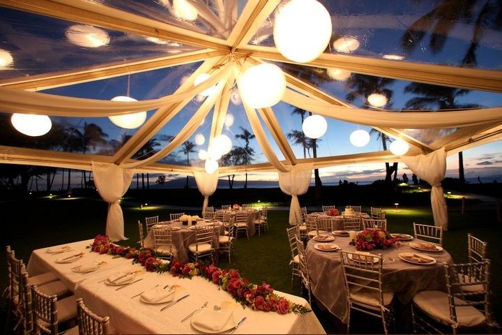 clear top tent lighting