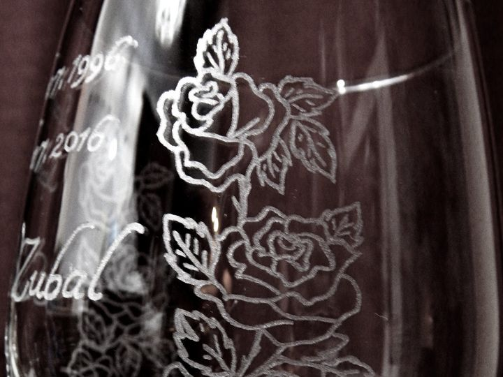 Tmx 1490108438030 Zubalanniversaryglass2 Harwick wedding favor