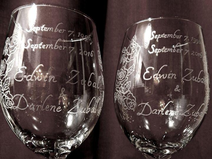 Tmx 1490108440412 Zubalanniversaryglass1 Harwick wedding favor