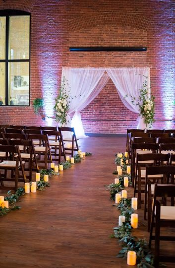 Ceremony set up at Charles River Museum of Industry
